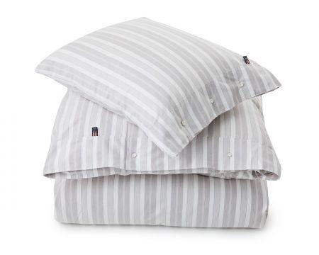 Gray/White Pin Point Stripe Duvet