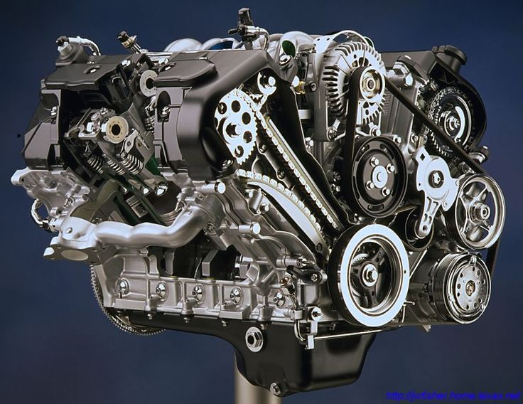 """Ford 4.6 DOHC V-8 """"InTech"""", as used in the Lincoln Mark VIII."""