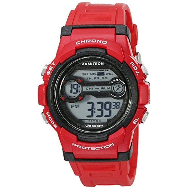 Armitron Sport Unisex 45/7064BRD Digital Chronograph Red
