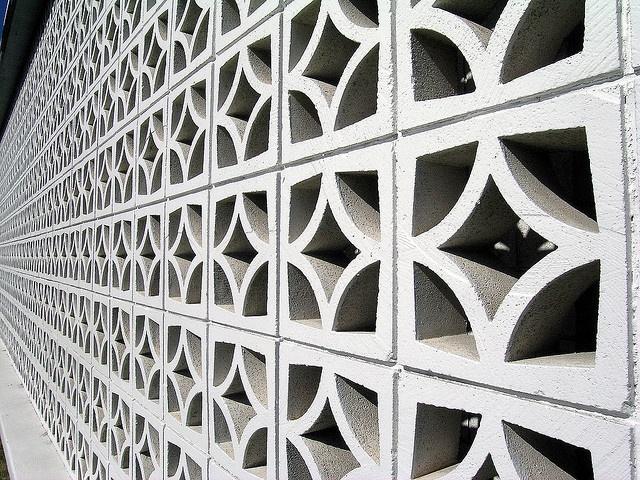 Mid century modern brick wall