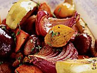Root Vegetable Pan Roast with Chestnuts and Apples Recipe