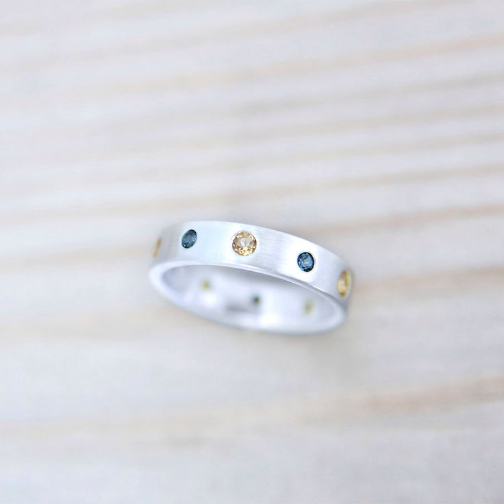 The Queen - Modern Silver Eternity Ring Topazes&Citrines, November Birth Stones by MonaPink on Etsy https://www.etsy.com/listing/207540416/the-queen-modern-silver-eternity-ring