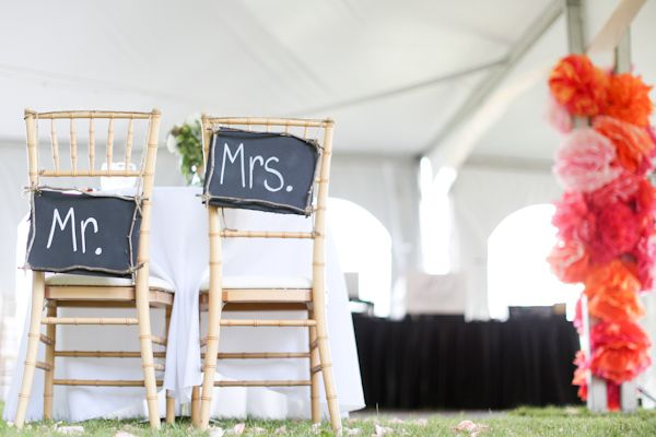 chalkboard chair signs | Rodeo & Co #wedding
