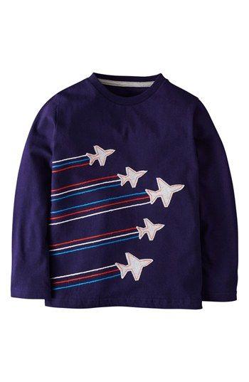 Mini Boden Embroidered Appliqué T-Shirt (Toddler Boys, Little Boys & Big Boys) …