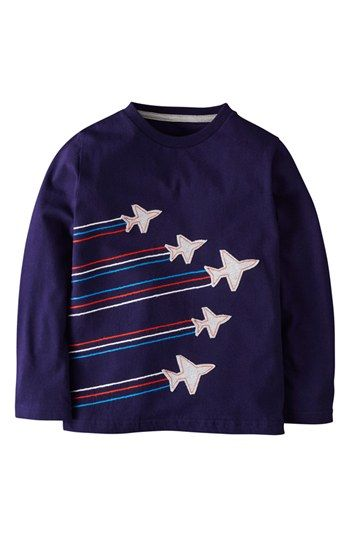 Mini Boden Embroidered Appliqué T-Shirt (Toddler Boys, Little Boys  Big Boys) available at #Nordstrom