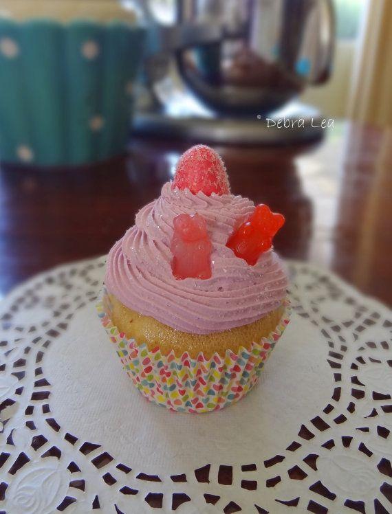 Fake Cupcake Handmade Pink Faux Cupcake by ImagineOutLoud on Etsy