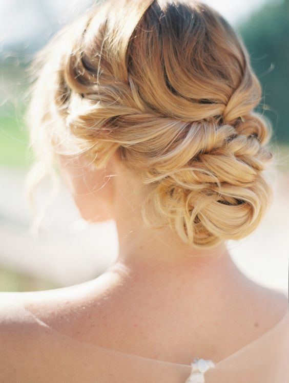 wedding hairstyles | updo | blondes | romantic | twists | braided