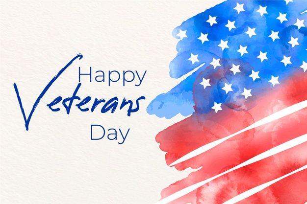 Dia De Los Veteranos Con Bandera De Acua Free Vector Freepik Freevector Acuarela Veterans Day Independence Day Background Flag