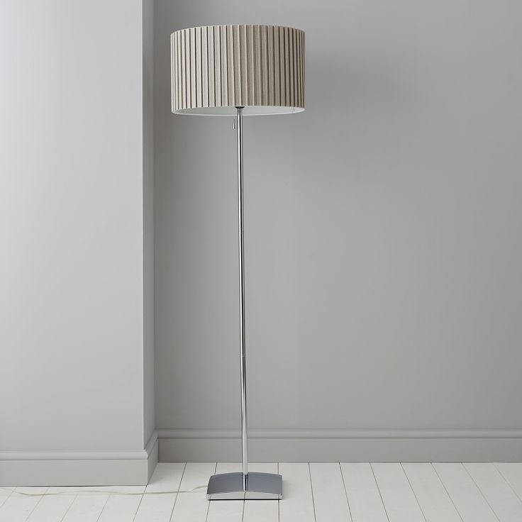 Alita chrome effect floor lamp