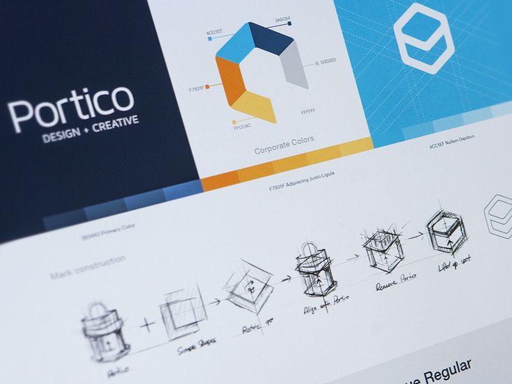 Portico identity by Eddie Lobanovskiy
