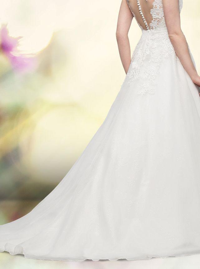 Hochstecken schleppe brautkleid mit Brautkleider Online