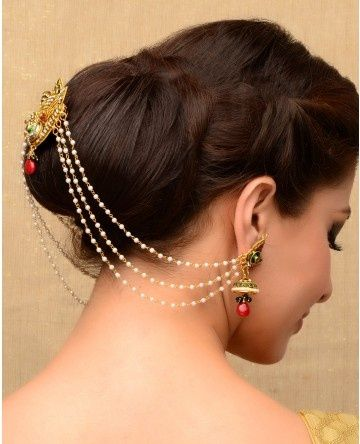 Image result for indian jewellery hair accessories