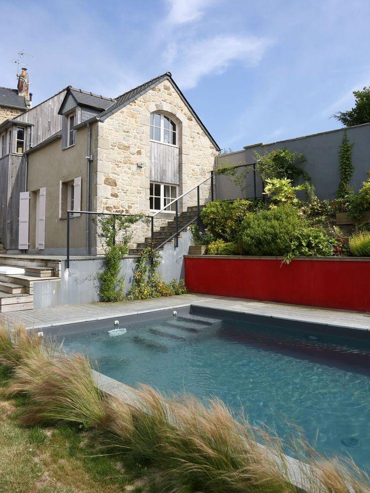 60 best piscine terrasse images on Pinterest Decks, Zen gardens - prix piscine enterree couverte