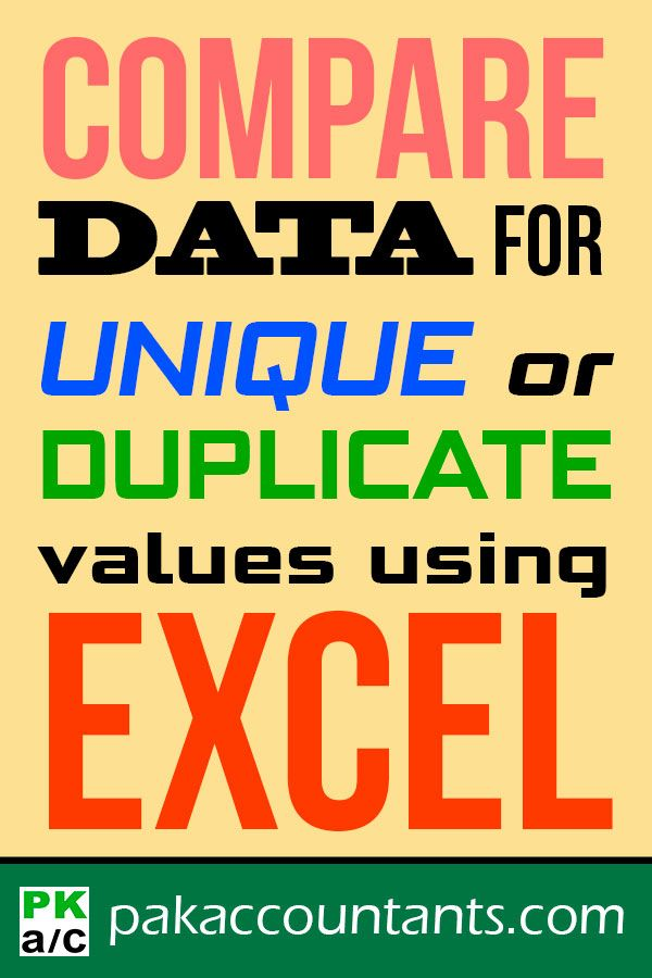 Compare Two Lists For Duplicates Or Unique Values In No Time Using Excel Pakaccountants Com Microsoft Excel Excel Excel Tutorials