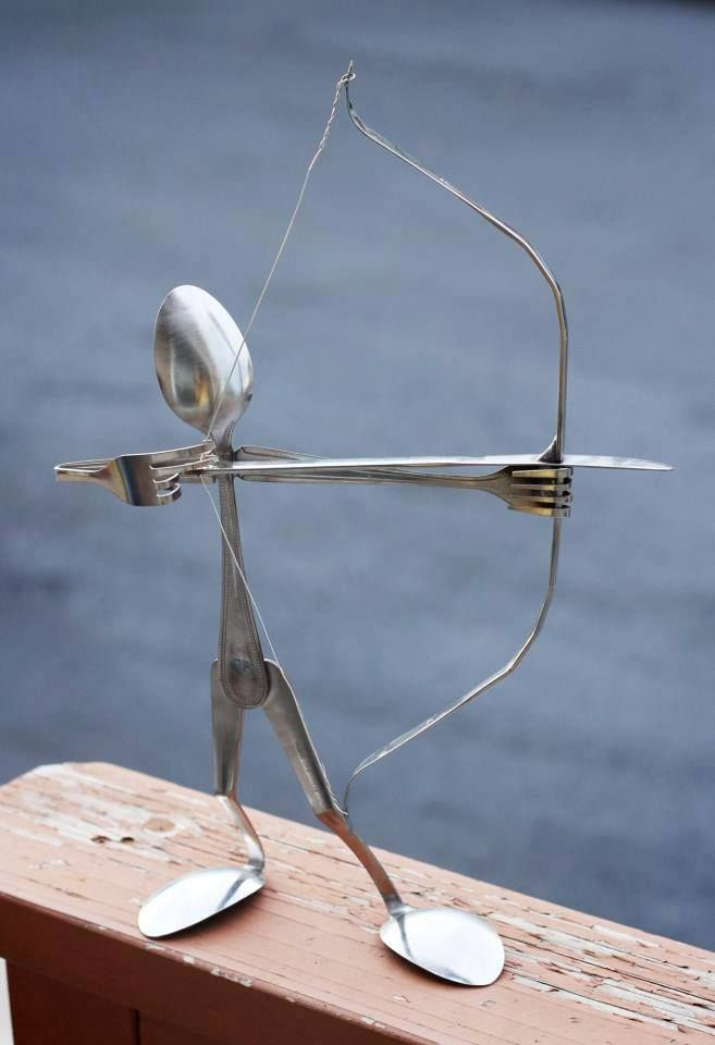 i love metal sculptures made out of found objects thamu