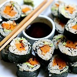 Sriracha Sweet Potato Tempura Vegan Sushi Recipe on Yummly. @yummly #recipe