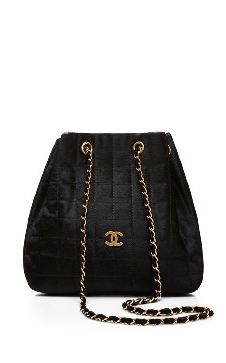 ecf420871add Chanel Black Ponyhair Chocolate Bar Bag by What Goes Around Comes Around  for Preorder on Moda Operandi