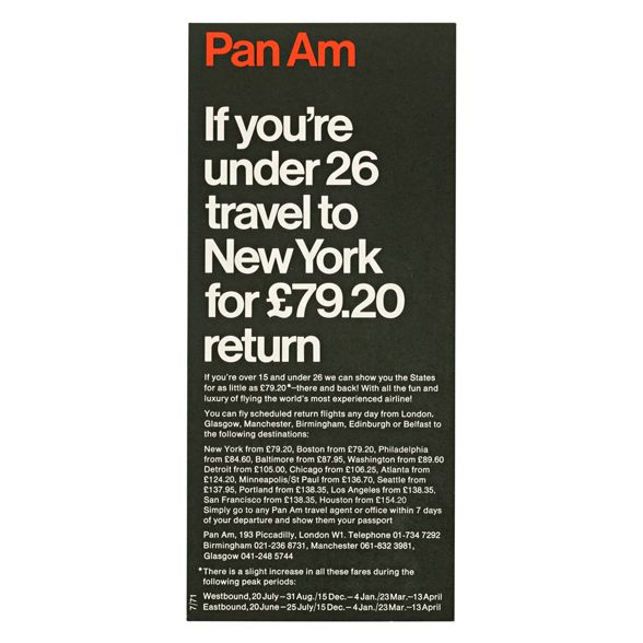 Fares leaflets | Alan Fletcher