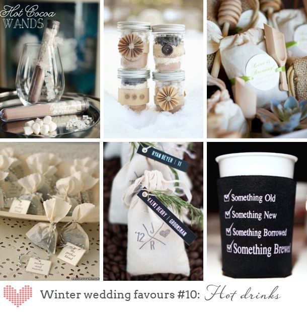 Winter Wedding Favours - Hot drinks
