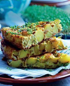 Spansk tortilla med løg og kartofler