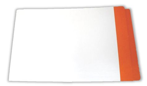 Part Mylar Legal Light Orange Folder x 100 - Legal size 326gsm reinforced end tab (or side tab). Lateral Shelf File, with Light Orange Coloured End tab and Partial Mylar coated end tab. Also available in A4 size and Foolscap.