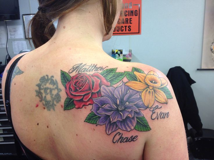 17 best images about flower tattoos birthday on pinterest for Birthday tattoo ideas