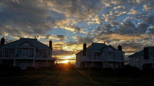 Sunset over Fox Harbour Resort