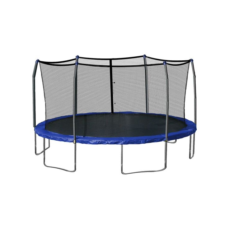 Skywalker Trampolines 17' Oval Trampoline with Enclosure - Blue