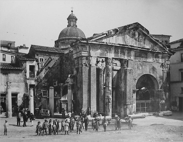 Rome, portico d'Ottavia, 1880