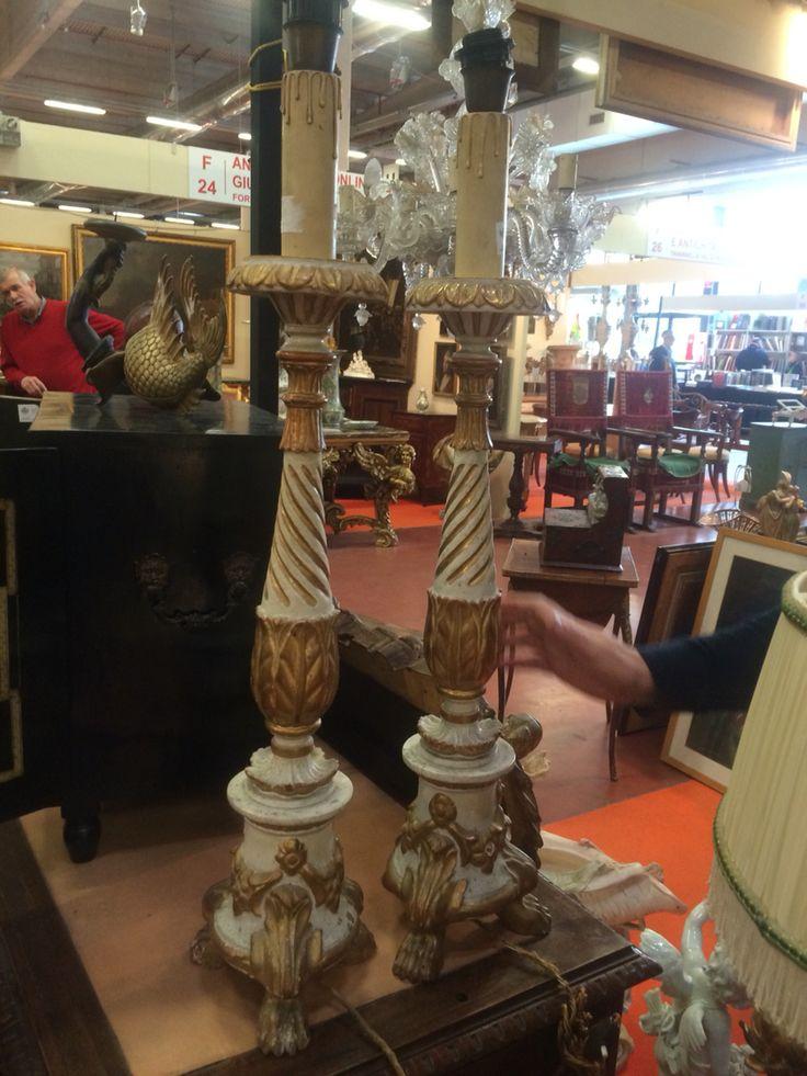 Coppia di lampade antiche