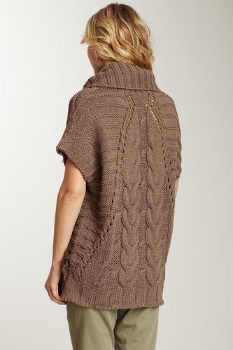 Безразмерный свитер спицами - дерзкий взгляд на моду. Идея