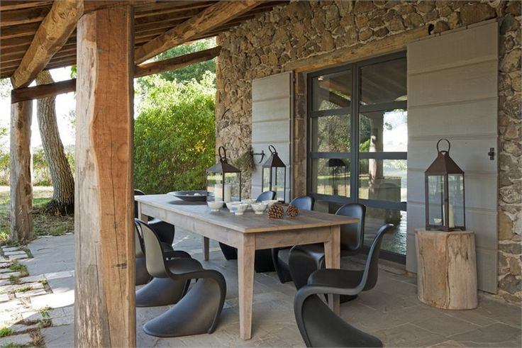 On mixe design, bois et pierre sur la terrasse  Escalier Décoration