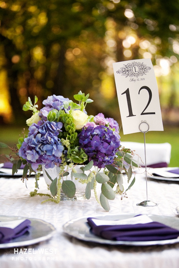 Purple hydrangea centerpiece centerpieces pinterest