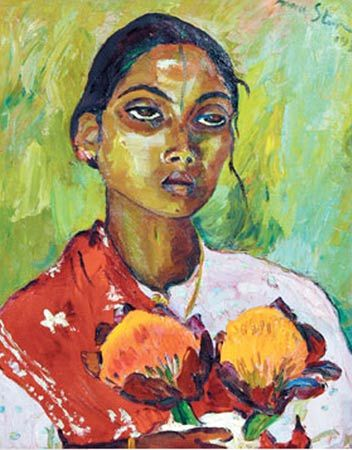 Irma Stern  Portrait of an Indian woman 1936  oil on canvas