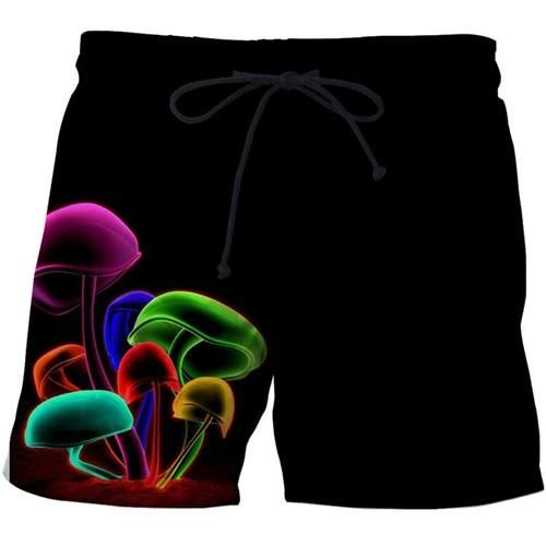 Skull Printed Beach Shorts Men Quick Dry Swimwear