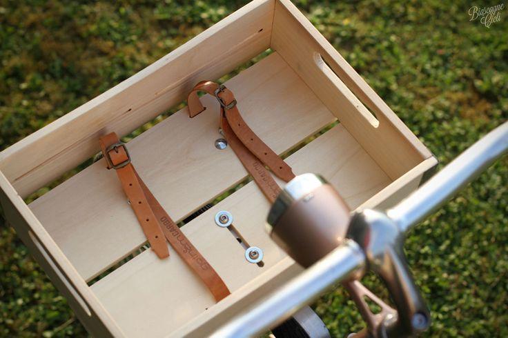 wooden bicycle basket