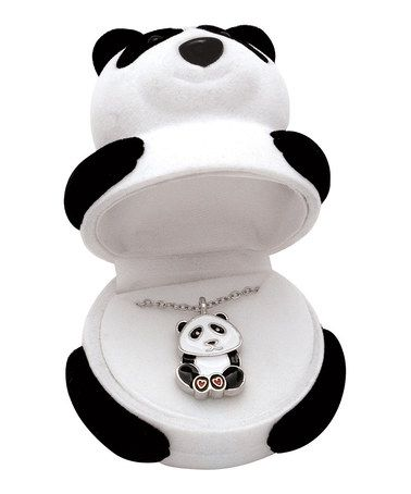 Love this Panda Pendant Necklace on #zulily! #zulilyfinds