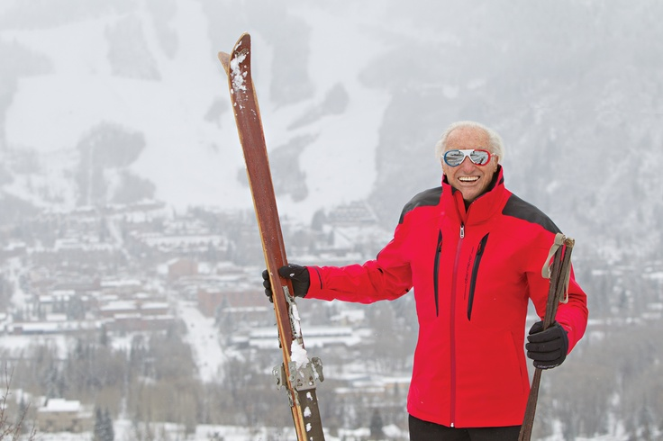 Klaus Obermeyer and his skis in #Aspen