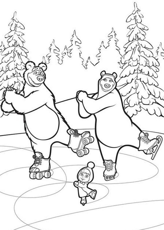 99 disegni di masha e orso da colorare masha bear for Immagini masha e orso da colorare