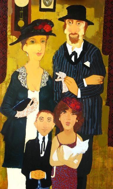 About Art - Talent works, genius creates... : Otar Imerlishvili (Georgian artist)  A Jewish Family
