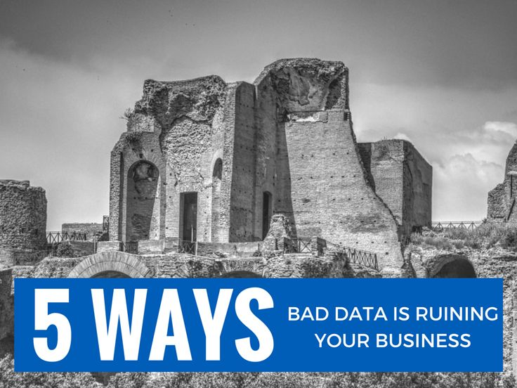 Is Bad Data Ruining your business? The average organisation loses 12% of its income because of bad contact data. This includes wasted marketing spend, wasted resources and lost productivity. View the SlideShare on the 5 ways bad data is ruining your business.  #data #sales #marketing #business #custserv #customerexperience
