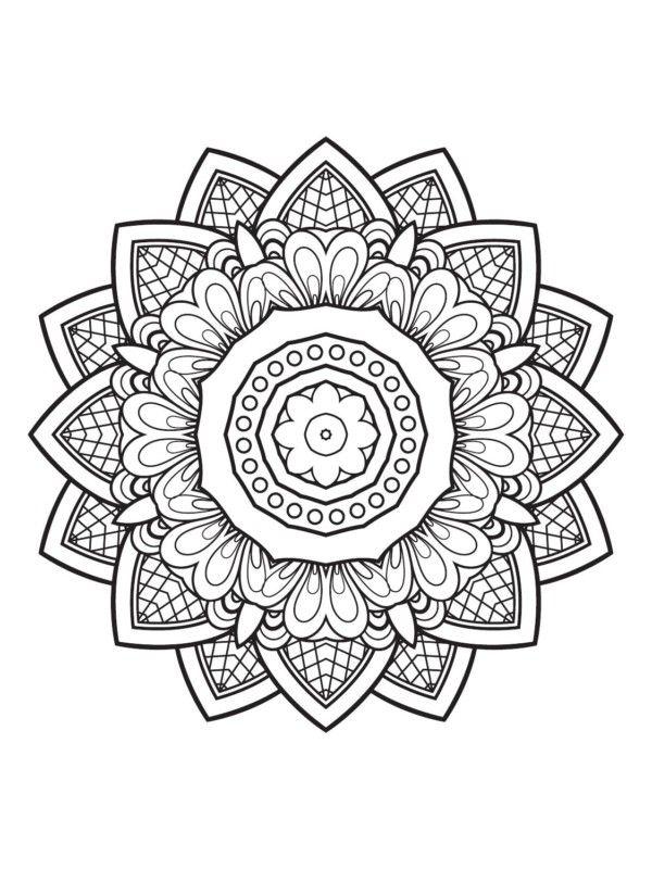 190 Mandalas para Colorear para niños | Mandalas