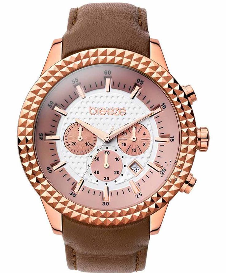 BREEZE Shinning Tribute Chrono Brown Leather Strap Τιμή: 175€ http://www.oroloi.gr/product_info.php?products_id=35257