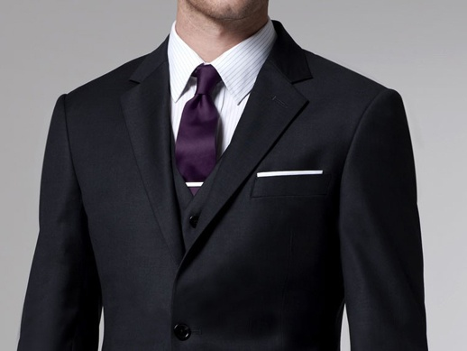 Charcoal Grey With Eggplant Tie The Look Wedding Suits