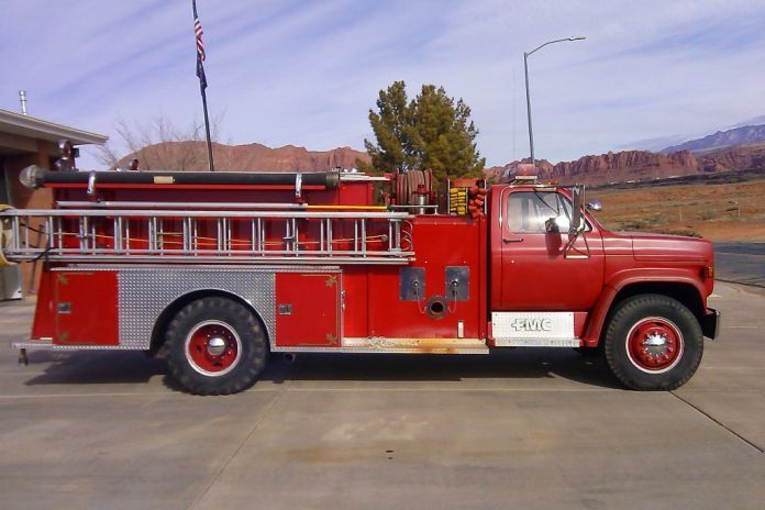 Used FMC pumper for sale at Firetrucks Unlimited. #firetrucksforsale