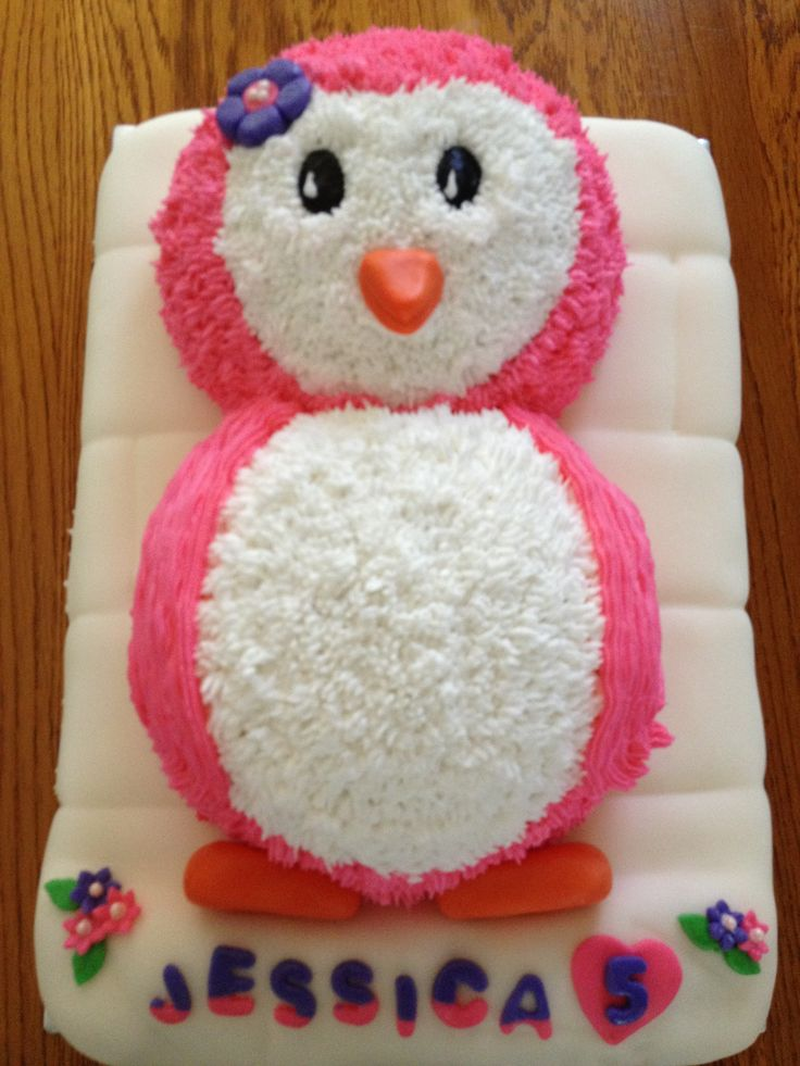Pink Penguin Cake Ready For A Party Cakes Pinterest