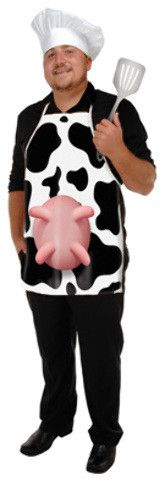 cow print fabric novelty apron Case of 6