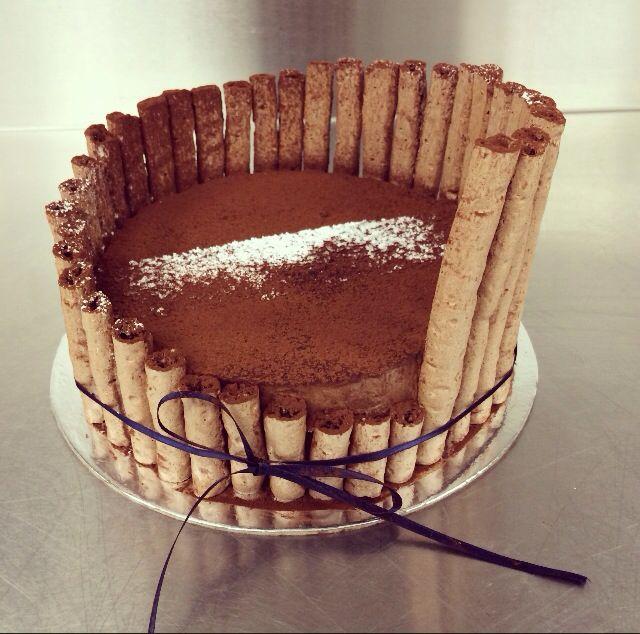 Gateau Concorde - chocolate meringue sandwiched with chocolate mousse  - Le Cordon Bleu