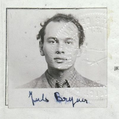 Early photo of Yul Brynner probably for a passport when he emigrated from Russia to the US.