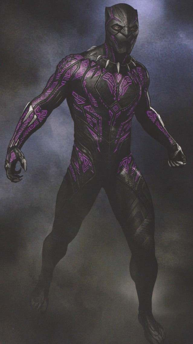 Black Panther Purple Suit Vibranium Iphone Wallpaper Black Panther Marvel Black Panther Black Panther Art